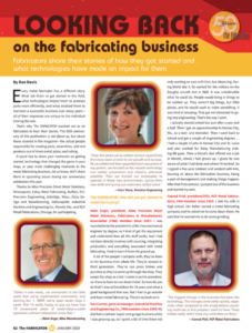 Looking Back on the Fabricating Business - screen shot of magazine excerpt.